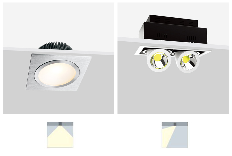 LED Multiply Recessed Down Lights
